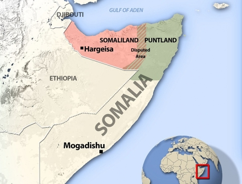 Somaliland Republic map