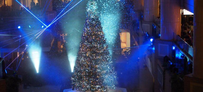 横浜ランドマークプラザの降雪イベント!Merry Snow Christmas